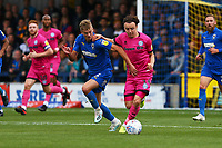 Marcus Forss of AFC Wimbledon  and Oliver Rathbone of Rochdale AFC during AFC Wimbledon vs Rochdale, Sky Bet EFL League 1 Football at the Cherry Red Records Stadium on 5th October 2019