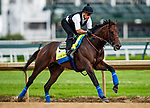 LOUISVILLE, KENTUCKY - MAY 01: Game Winner with Homberto Gomez prepares for the Kentucky Derby at Churchill Downs in Louisville, Kentucky on May 01, 2019. Evers/Eclipse Sportswire/CSM