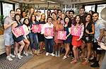 Tina Fey, Nell Benjamin and Jeff Richmond with the cast attend the 'Mean Girls' Original Broadway Cast Linyl Release at the Herald Square Urban Outfitters' on August 28, 2018 in New York City.