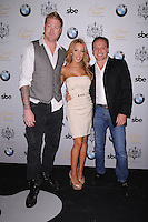 MIAMI, FL - NOVEMBER 08: Jeremy Shockey, Lisa Hochstein and Lenny Hochstein arrives at Grand Opening of SLS Hotel South Beach at SLS South Beach on November 8, 2012 in Miami, Florida. © MPI10/MediaPunch Inc /NortePhoto