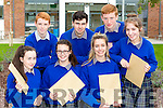 Milltown Presentation students celebraing their Junior Certs results on Wednesday were front row l-r: Louise O'Dowd, Brogun Sheedy, Caitlin Daly and Lauren Evans. Back row: Sean Sheahan, Kevin O'Connor and Martin Foley