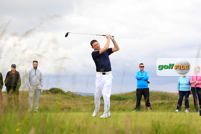 Lester Moore (City of Derry) on the 12th tee during Round 2 Matchplay of the North of Ireland Amateur Open Championship at Royal Portrush, Dunluce Course on Wednesday 15th July 2015.<br /> Picture:  Golffile | Thos Caffrey