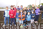 Junior Anglers taking part in the Bridge Fishing competition at the Cahersiveen Music Festival on Friday last pictured front l-r; Daniel O'Connell, Fionn O'Brien, Colm O'Brien, Adam Tobin, Dean Highland, Eoin Ahern, Kelvin Ahern, back l-r; Rachel Moran, Iona Quinn, Fiona Griffin, Ellie Highland, Daragh Malone, Bathsheba Tobin & Saidhbh O'Brien.