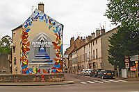 wall painting patriarche p & f r maufoux beaune cote de beaune burgundy france