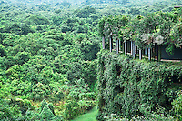 Geoffery Bawa designed the Kandalama resort to blend in harmoniously with the surrounding jungle. (Photo by Matt Considine - Images of Asia Collection)