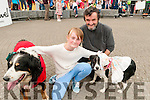 Family Fun Day: Attending the family fun day in the Square, Listowel on Sunday afternoon last were Mary & Jimmy O'Connor with their dogs Jack & Venus.