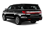 Car pictures of rear three quarter view of a 2018 Lincoln Navigator Select L Extended 4x2 5 Door SUV angular rear