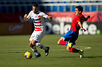 CARSON, CA - FEBRUARY 1: Sebastian Lletget #17 of the United States moves to the ball during a game between Costa Rica and USMNT at Dignity Health Sports Park on February 1, 2020 in Carson, California.