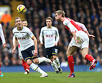 Tottenham's Harry Kane tussles with Arsenal's Per Mertesacker<br /> <br /> Barclays Premier League- Tottenham Hotspurs vs Arsenal  - White Hart Lane - England - 7th February 2015 - Picture David Klein/Sportimage