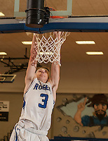 NWA Democrat-Gazette/ANTHONY REYES &bull; @NWATONYR<br /> Jake Benninghoff, Rogers junior, dunks against Waynesville, Mo., Friday, Dec. 11, 2015 at King Arena in Rogers.
