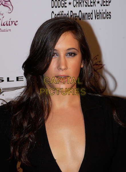 VANESSA CARLTON.attends the 6th Annual Lili Claire Foundation Benefit held at The Beverly Hilton Hotel.headshot, portrait, cleavage.www.capitalpictures.com.sales@capitalpictures.com.©Capital Pictures.