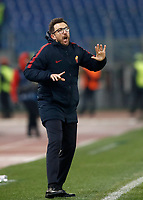 Football Soccer: UEFA Champions League AS Roma vs Qarabag FK Stadio Olimpico Rome, Italy, December 5, 2017. <br /> Roma's coach Eusebio Di Francesco gestures to his players during the Uefa Champions League football soccer match between AS Roma and Qarabag FK at at Rome's Olympic stadium, December 05, 2017.<br /> UPDATE IMAGES PRESS/Isabella Bonotto