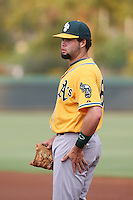 Michael Soto of the AZL Athletics during a game against the AZL Dodgers at Camelback Ranch on July 12, 2014 in Glendale, Arizona. AZL Athletics defeated the AZL Dodgers, 3-2. (Larry Goren/Four Seam Images)