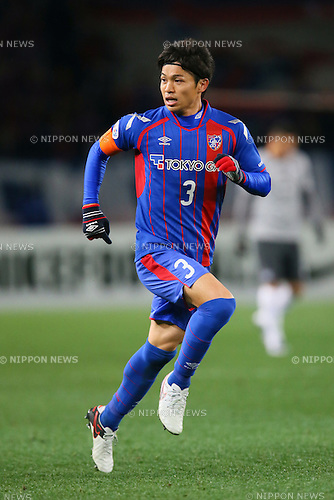 Masato Morishige (FC Tokyo), <br /> FEBRUARY 9, 2016 - Football / Soccer : <br /> AFC Champions League 2016 Play-off <br /> between FC Tokyo 9-0 Chonburi FC <br /> at Tokyo Stadium, Tokyo, Japan. <br /> (Photo by YUTAKA/AFLO SPORT)