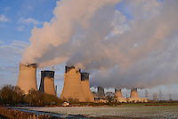 The West Burton power stations, a pair of power stations on the River Trent near Retford, in Nottinghamshire. One is coal powered and one is a 1,300MW Combined Cycle Gas Turbine (CCGT) power station.