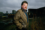 Welsh Falklands veteran Simon Weston on derelict site. Founder of The Weston Spirit, charity dedicated to helping disadvantaged young people. ..