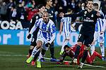 CD Leganes's Martin Braithwaite celebrates goal during  between Real Madrid and CD Leganes at Butarque Stadium in Madrid, Spain. January 16, 2019. (ALTERPHOTOS/A. Perez Meca)