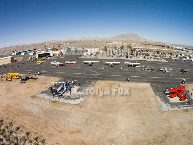 DJI quadcopter drone photos of the Open House at the WInnemucca Municipal Airport on Sunday at Shooting the West XXVII, Winnemucca, Nev.