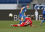 Sebastian Rudy (TSG 1899 Hoffenheim) und Dani Olmo (RB Leipzig)<br /> <br /> Sport: Fussball: LIGA: Saison 19/20: TSG 1899 <br /> <br /> Hoffenheim-RB Leipzig, 12.06.2020.<br /> Foto: RALF POLLER/AVANTI/POOL/PIX-Sportfotos<br /> <br /> Nur für journalistische Zwecke! Only for editorial use! <br /> Gemäß den Vorgaben der DFL Deutsche Fußball Liga ist es untersagt, in dem Stadion und/oder vom Spiel angefertigte Fotoaufnahmen in Form von Sequenzbildern und/oder videoähnlichen Fotostrecken zu verwerten bzw. verwerten zu lassen. DFL regulations prohibit any use of photographs as image sequences and/or quasi-video.