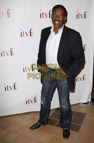 "ERNIE HUDSON .""Sex Ed"" The Series Special Screening Held at The Laemmle Sunset 5. .West Hollywood, California, USA, .2nd August 2009..full length  jeans navy blue blazer suit jacket jeans.CAP/ADM/KB.©Kevan Brooks/Admedia/Capital Pictures"