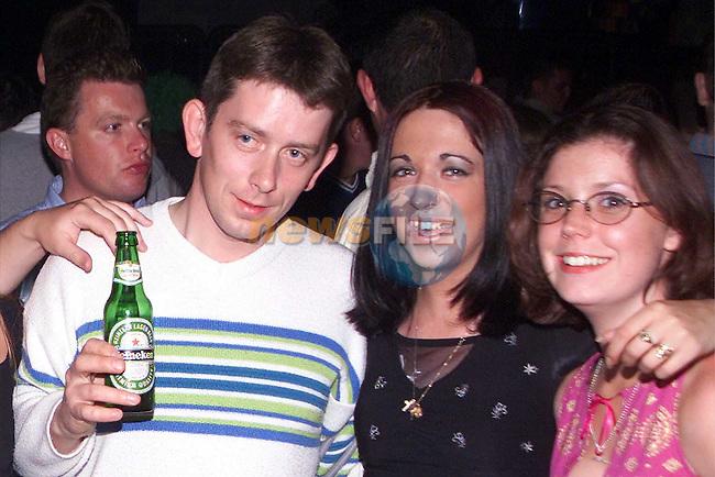 Tom Crinion, Natalie Dawe and Jordana Black enjoying a night out in Soda..Picture Paul Mohan Newsfile