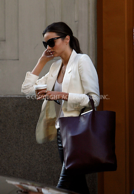 WWW.ACEPIXS.COM . . . . .  ....October 20 2011, New York City....Model Miranda Kerr leaving her Manhattan apartment on October 20 2011 in New York City....Please byline: CURTIS MEANS - ACE PICTURES.... *** ***..Ace Pictures, Inc:  ..Philip Vaughan (212) 243-8787 or (646) 679 0430..e-mail: info@acepixs.com..web: http://www.acepixs.com