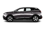 Car Driver side profile view of a 2017 Peugeot 3008 GT-Line 5 Door Suv Side View