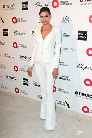 WEST HOLLYWOOD, CA - FEBRUARY 22: Irina Shayk at the 2015 Elton John AIDS Foundation Oscar Party in West Hollywood, California on February 22, 2015. Credit: David Edwards/DailyCeleb/MediaPunch