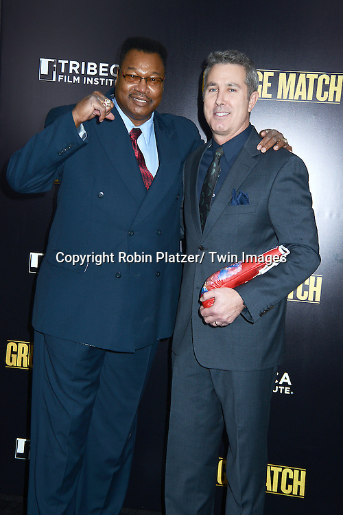 "Larry Holmes and Pete Segal attend the World Premiere of ""Grudge Match"" at the Ziegfeld Theatre in New Yok City on December 16, 2013."