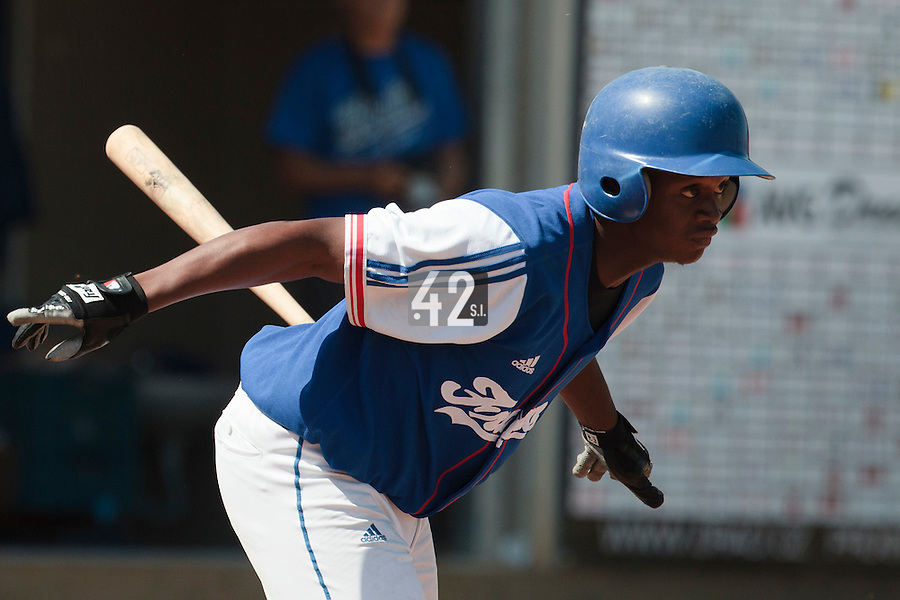 20 August 2010: Jean Antonio Samer of Team France is seen at bat during France 6-5 win over Italy, at the 2010 European Championship, under 21, in Brno, Czech Republic.