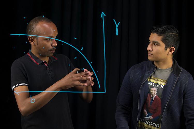 Kevin Mewenda and Jose Valdez for OCI brochure Learning Glass