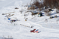 Hugh Neff arrives at the ghost-town checkpoint of  Iditarod during the 2011 Iditarod race. .
