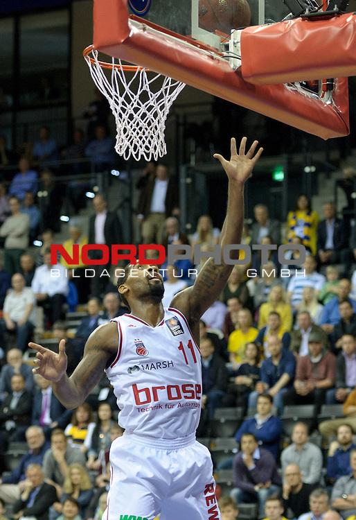 12.04.2015, EWE Arena, Oldenburg, GER, Beko BBL Top Four, Finale, Brose Baskets vs EWE Baskets Oldenburg, im Bild Brad Wanamaker (Brose Baskets #11)<br /> <br /> Foto &copy; nordphoto / Frisch