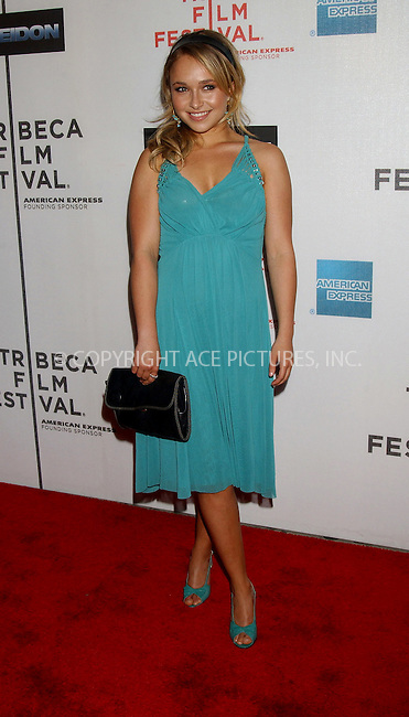 WWW.ACEPIXS.COM . . . . . ....NEW YORK, MAY 6, 2006....Hayden Panettiere at the Premiere Of Poseidon At The 5th Annual TFF.....Please byline: KRISTIN CALLAHAN - ACEPIXS.COM.. . . . . . ..Ace Pictures, Inc:  ..(212) 243-8787 or (646) 679 0430..e-mail: picturedesk@acepixs.com..web: http://www.acepixs.com