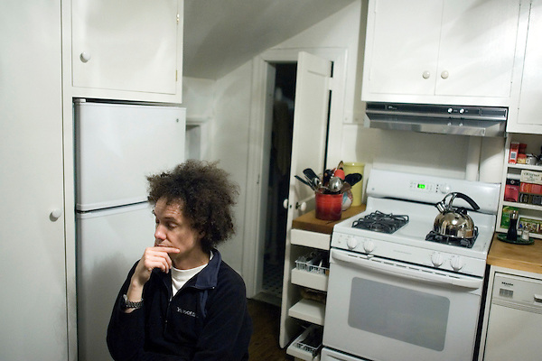 """Malcolm Gladwell, bestselling author of """"Blink"""" and writer for the New Yorker, at his home in the West Village of Manhattan."""