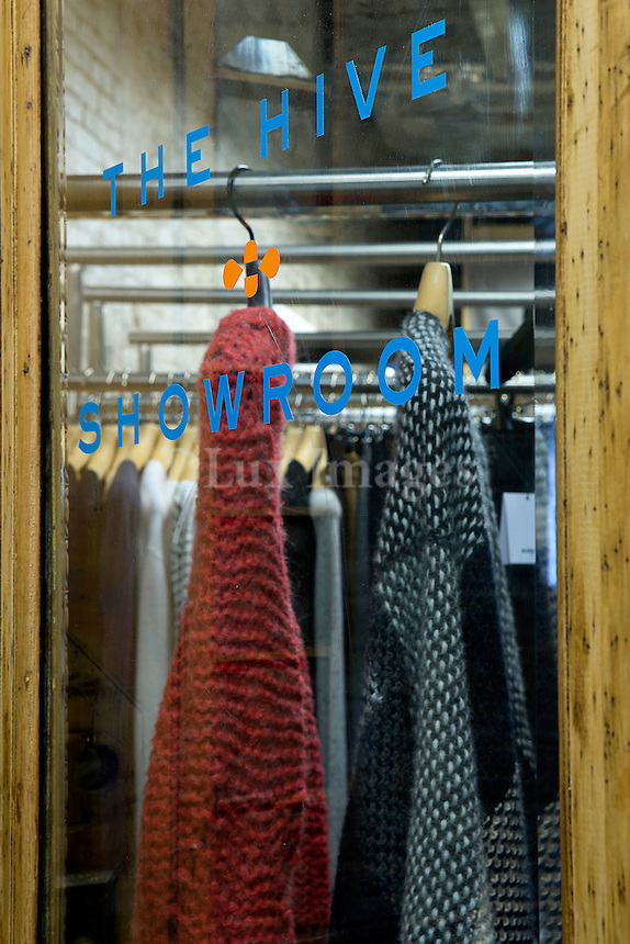 Shop window with wooden frame