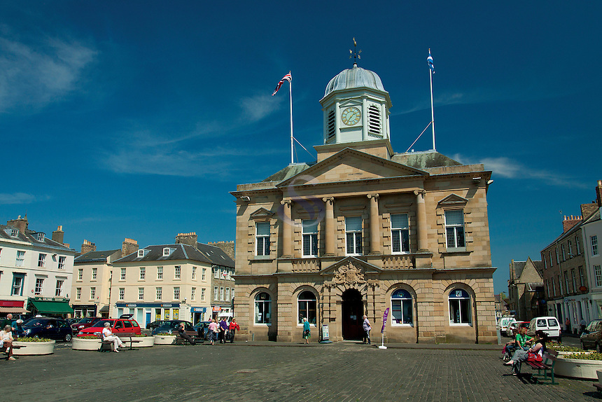 Market Square and the Town Hall, Kelso, Scottish Borders