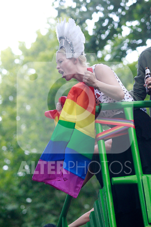 Spanish singer Soraya during the demonstration of World Pride Madrid 2017. July 1, 2017. (ALTERPHOTOS/Acero)