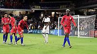 ORLANDO, FL - NOVEMBER 15: Gyasi Zardes #9 of the United States scores a goal and celebrates during a game between Canada and USMNT at Exploria Stadium on November 15, 2019 in Orlando, Florida.