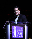 Raymond Lee on stage at the 73rd Annual Theatre World Awards at The Imperial Theatre on June 5, 2017 in New York City.