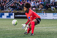 Allston, MA - Saturday, May 07, 2016: Boston Breakers goalkeeper Abby Smith (14) during a regular season National Women's Soccer League (NWSL) match at Jordan Field.