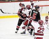 Katy Applin (NU - 20), Kate Buesser (Harvard - 20), Kelly Wallace (NU - 5) - The Harvard University Crimson defeated the Northeastern University Huskies 1-0 to win the 2010 Beanpot on Tuesday, February 9, 2010, at the Bright Hockey Center in Cambridge, Massachusetts.