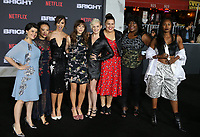 WESTWOOD, CA - DECEMBER 13: Rebekka Johnson, Kia Stevens, Brit Baron, Jackie Tohn, Kimmy Gatewood and Britney Young, at Premiere Of Netflix's 'Bright' at The Regency Village Theatre, In Hollywood, California on December 13, 2017. Credit: Faye Sadou/MediaPunch /NortePhoto.com NORTEPHOTOMEXICO