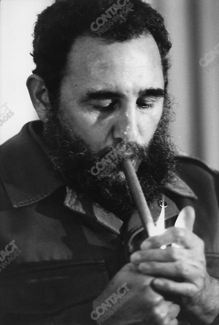 Fidel Castro, President of Cuba. Mexico, April 1979<br />