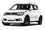 Stock pictures of low aggressive front three quarter view of a 2018 Suzuki Ignis GLX 5 Door Hatchback