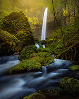 Elowah Falls after a heavy rain in Oregon's Columbia Gorge.