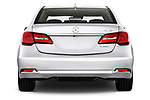 Straight rear view of 2014-2016 Acura RLX Base 4 Door Sedan stock images