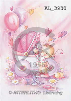Interlitho, Isabella, BABIES, paintings, pram, frog, duck(KL3930,#B#) bébé, illustrations, pinturas ,everyday