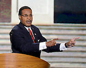 United States Representative Emanuel Cleaver II (Democrat of Missouri), Chairman of the Congressional Black Caucus, makes remarks   at the 2012 Democratic National Convention in Charlotte, North Carolina on Wednesday, September 5, 2012.  .Credit: Ron Sachs / CNP.(RESTRICTION: NO New York or New Jersey Newspapers or newspapers within a 75 mile radius of New York City)