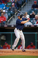 Pawtucket Red Sox left fielder Brian Bogusevic (16) at bat during a game against the Buffalo Bisons on August 31, 2017 at Coca-Cola Field in Buffalo, New York.  Buffalo defeated Pawtucket 4-2.  (Mike Janes/Four Seam Images)